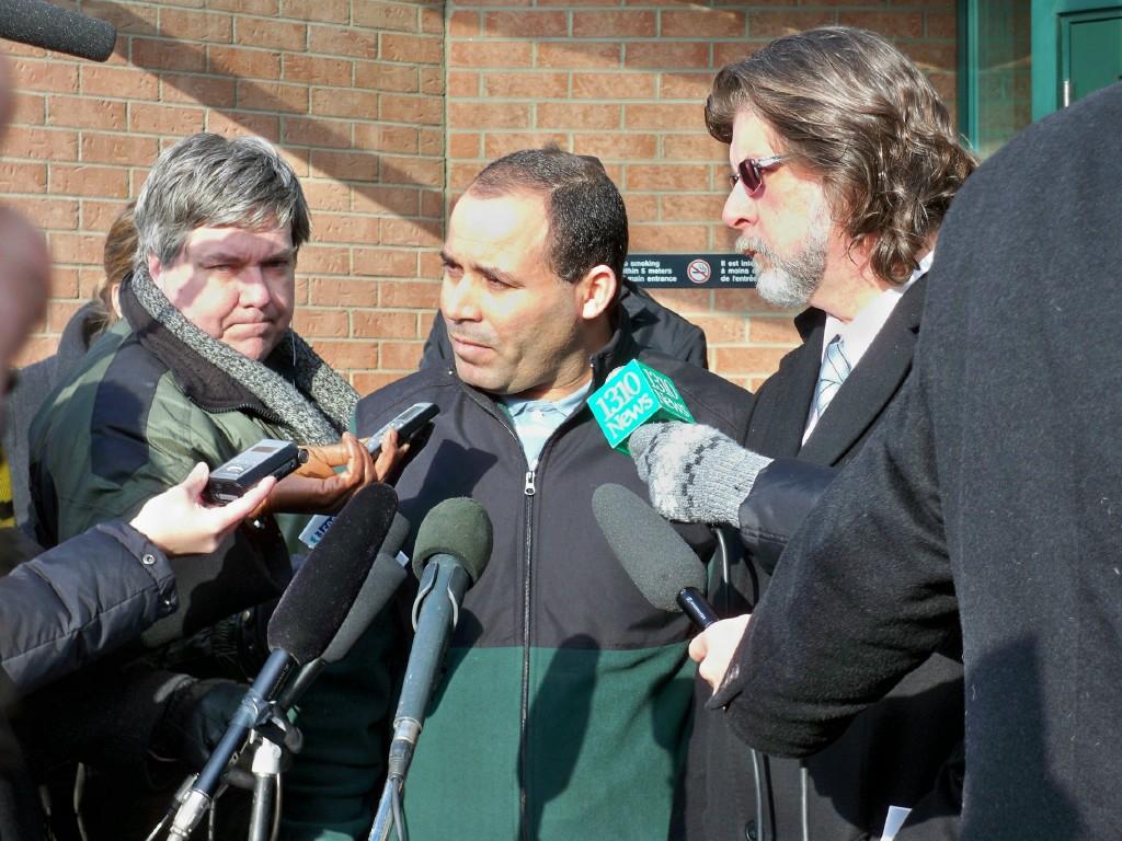 Mohamed Harkat and lawyer Matt Webber